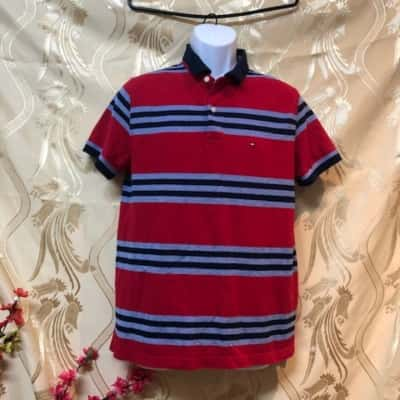 Tommy Hilfiger Mens  Size L Short Sleeve Blue/Red