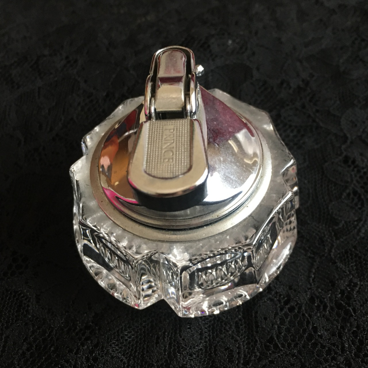 Prince Table Top Glass Cigarette Lighter