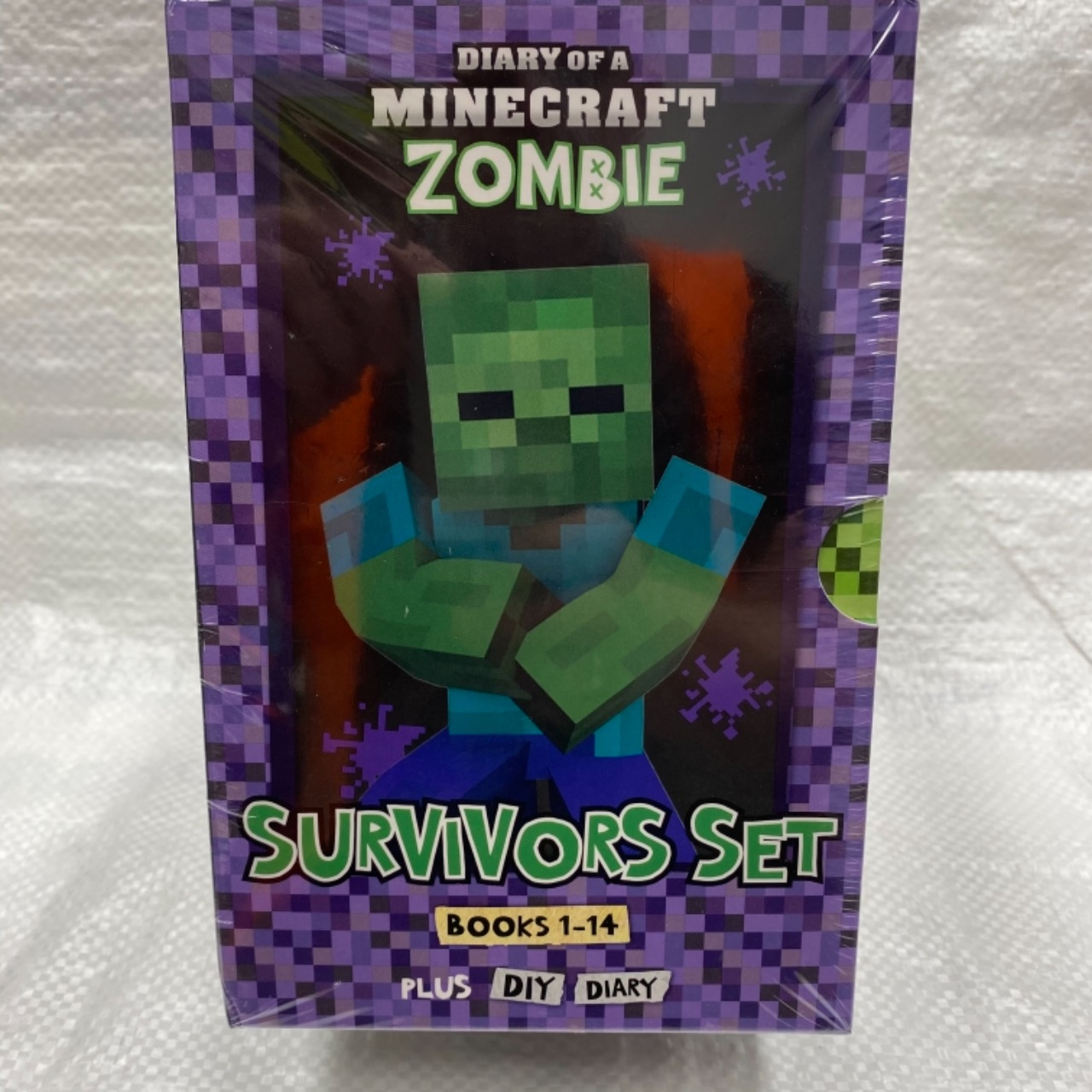 Diary of a Minecraft Zombie: Survivors Books 1-14 + DIY Diary Box Set - NEW Still Sealed