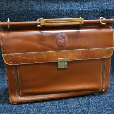 Ottobre Mens Brown Vintage Leather/Synthetic Briefcase