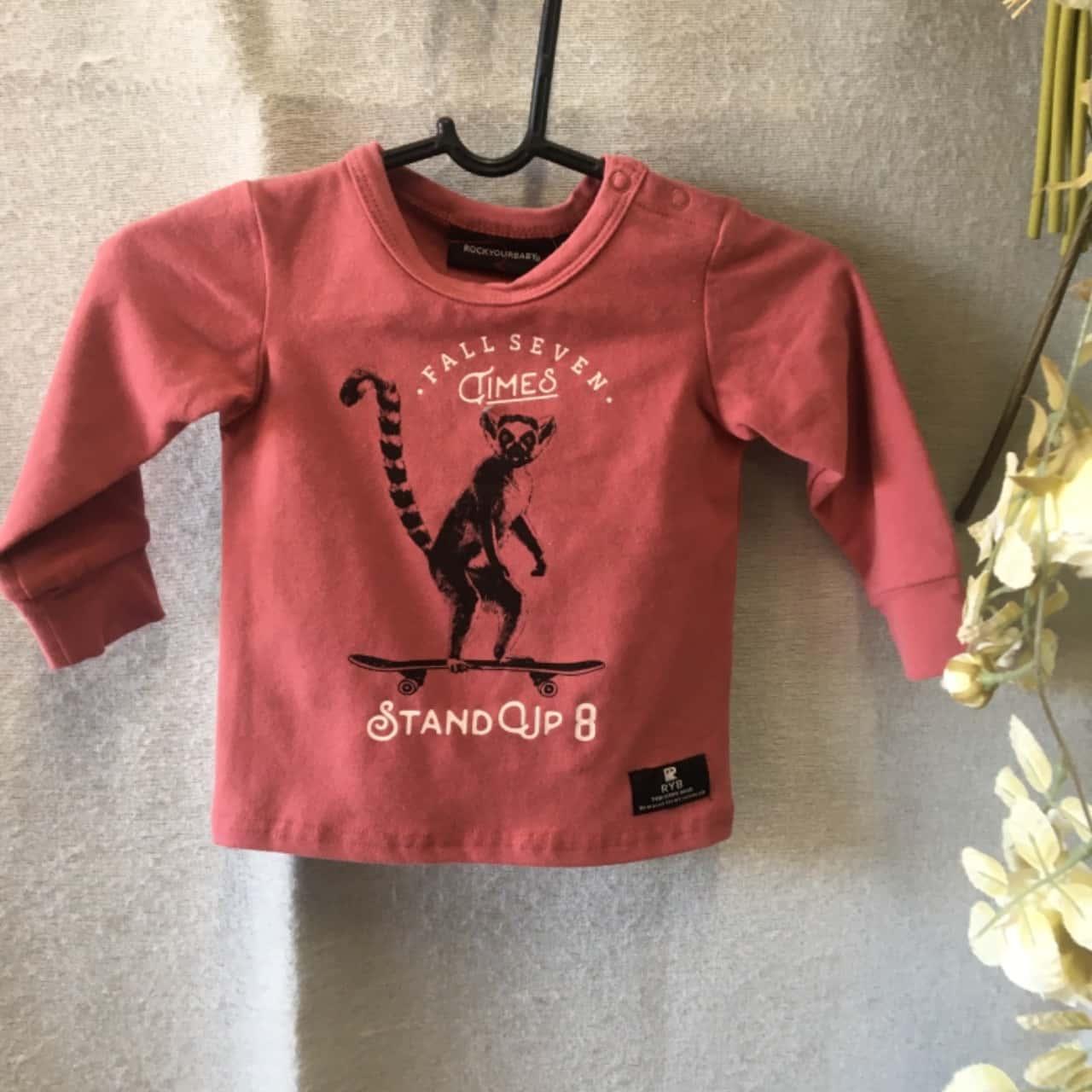 Rockyourbaby Kids Jumper Size 00 Pink RRP $ 42