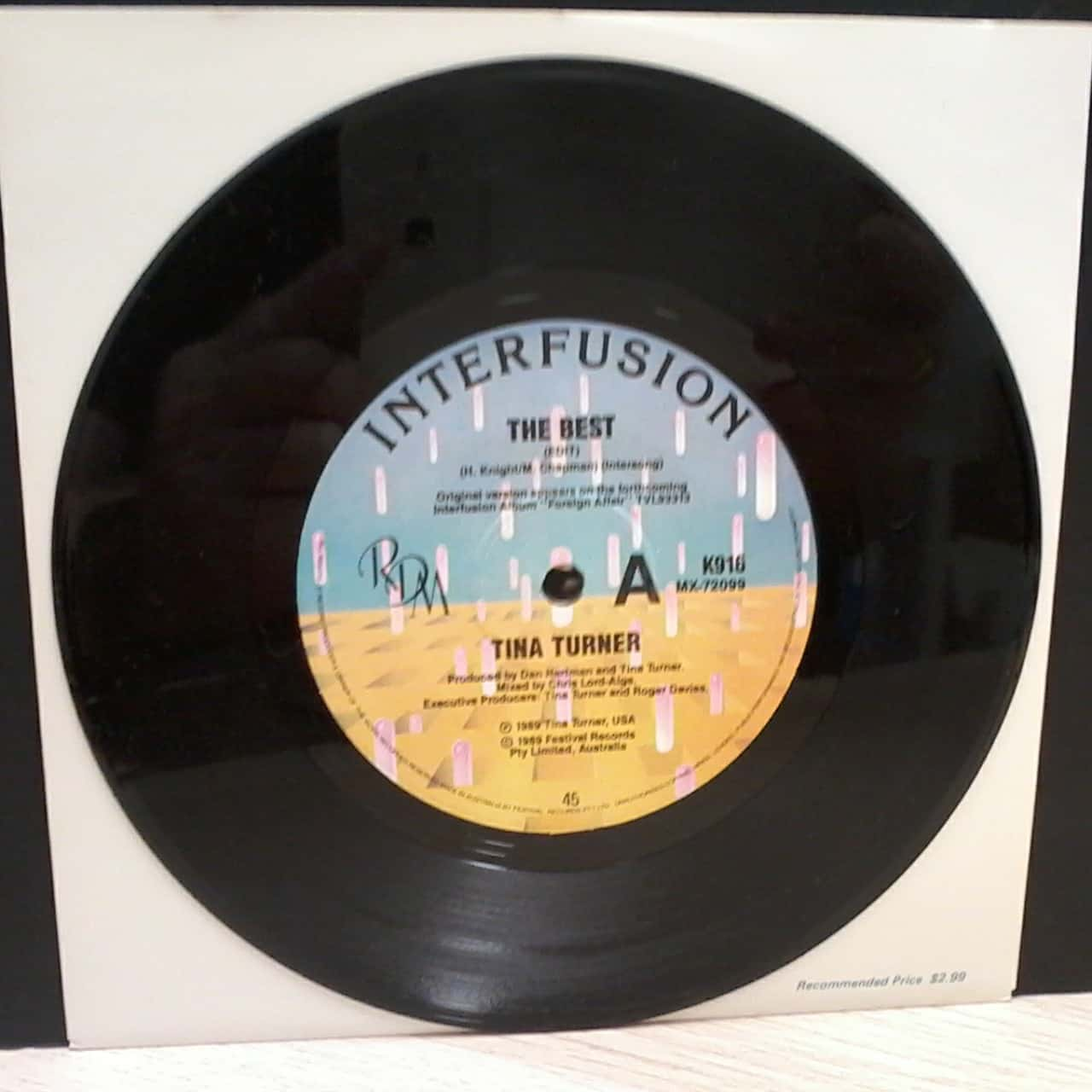 Single Vinyl Record By Tina Turner - The Best