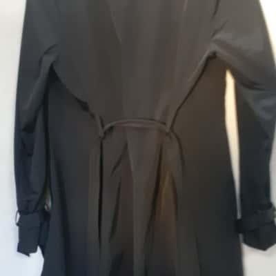 Jane Lamerton Black Trench Coat Size 14