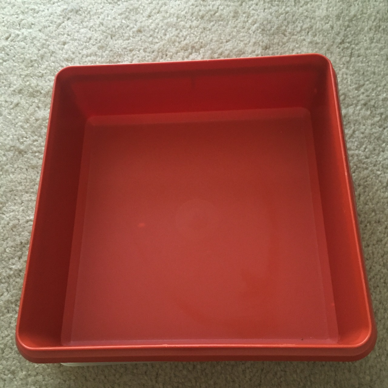 Tupperware Square Storage Container Red/Clear
