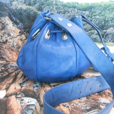 Mimco Womens Blue  Leather bag