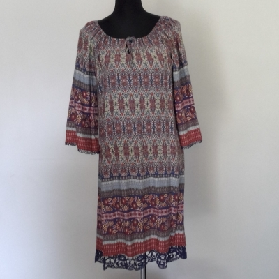BNWT Womens  EMERGE LIGHTWEIGHT SUMMER DRESS Size 12 Midi Dress Multicoloured Paisley
