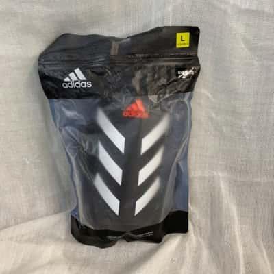 Adidas unisex shinguard black/white/red size L