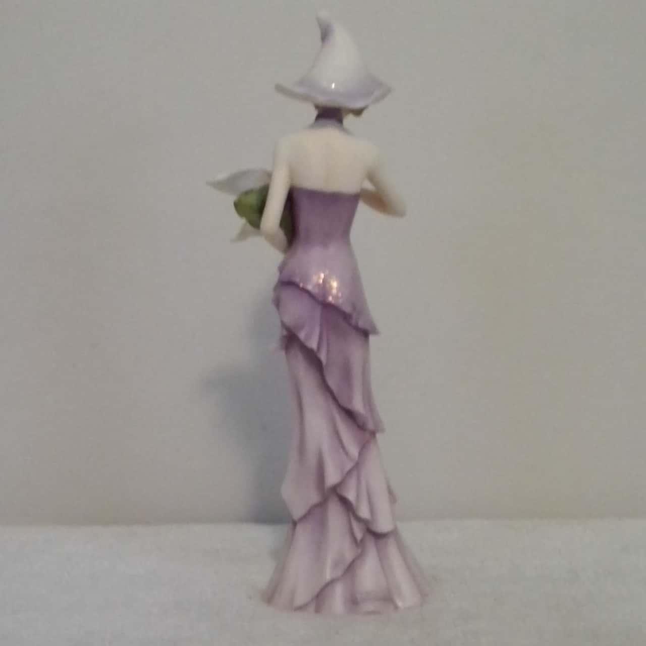 LEONARDO FIGURINE 'FLOWER PRINCESS' Purple  Approx 25 cm tall RRP $75.00