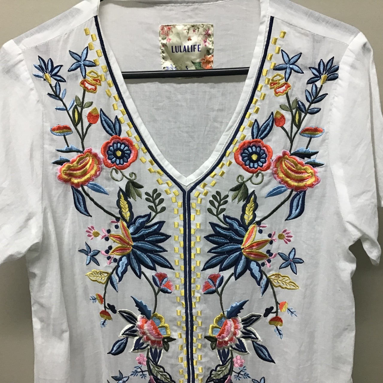 Lulalife, Embroidered dress (with pockets), Size S