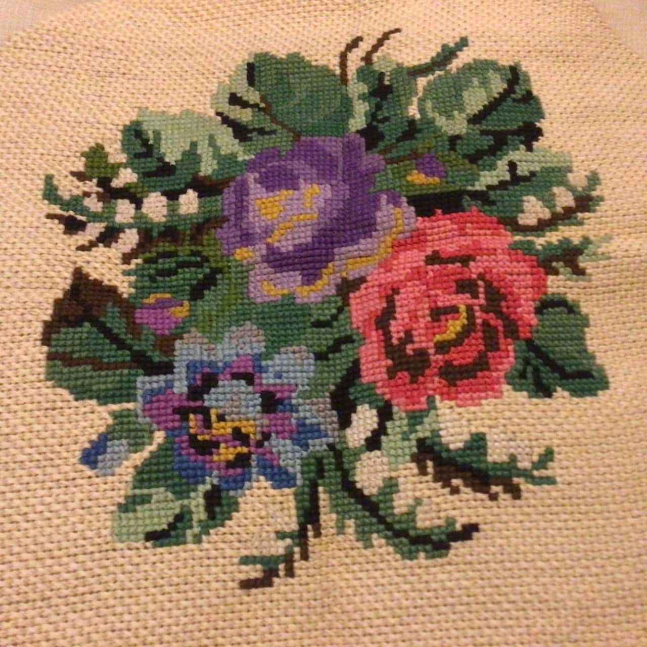 3 Vintage Embroidered Tapestries