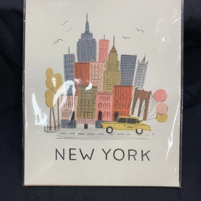 "NEW WITH TAGS New York ""Mott & Mulberry"" Art Print Rifle Paper Co art"
