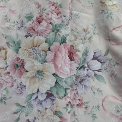 New Material Upholstery /Curtain Cream & Floral. 240 cm x 140cm