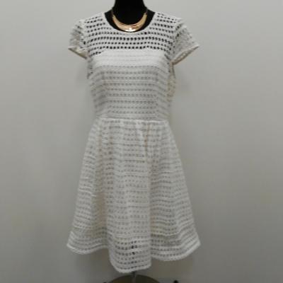 Portmans Signature Lace Size 14 Formal Dress/Cocktail Dress/Midi Dress/Party Dress Cream and White