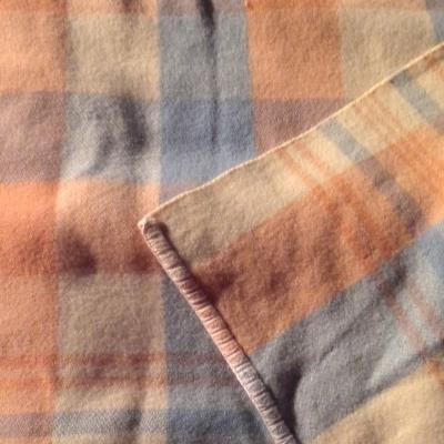 VINTAGE WOOLEN BLANKET 192 cm x 256 cm. FAIR CONDITION (some holes)