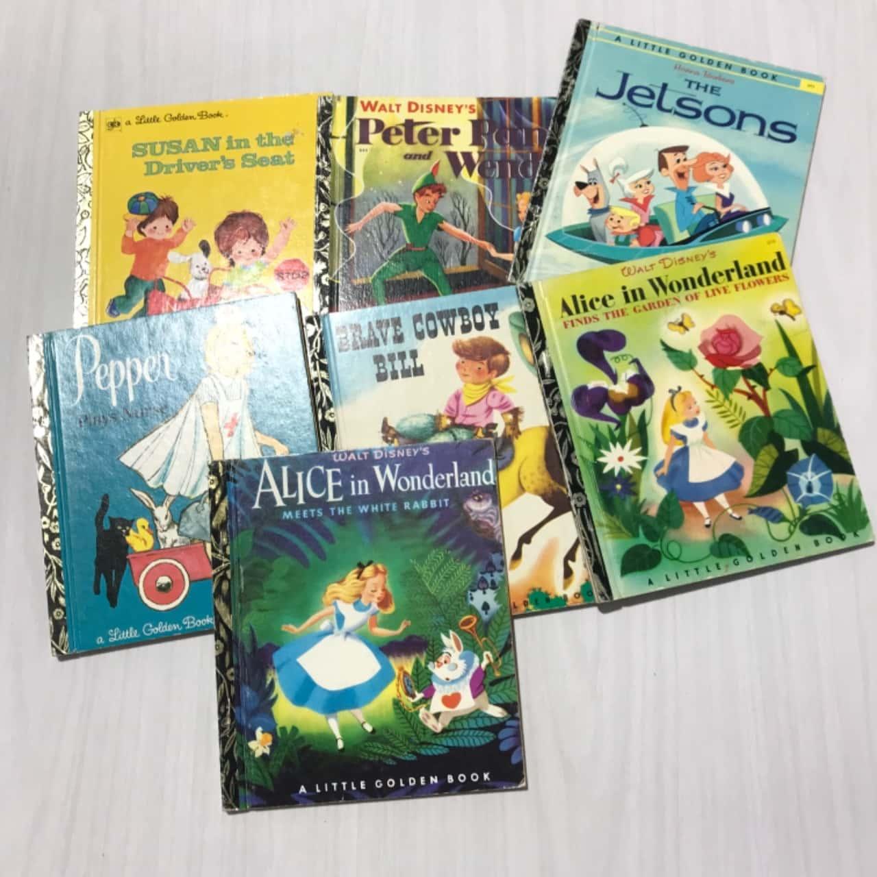 7 x Vintage Golden Books