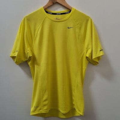 Men's 'Nike' Bright Yellow Running Tee - Size S