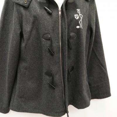 """Womens AFL """"SAINTS"""" Vintage Style Duffle coat Grey Size 12"""