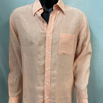 GAZMAN Mens shirts Size L Long Sleeve Orange