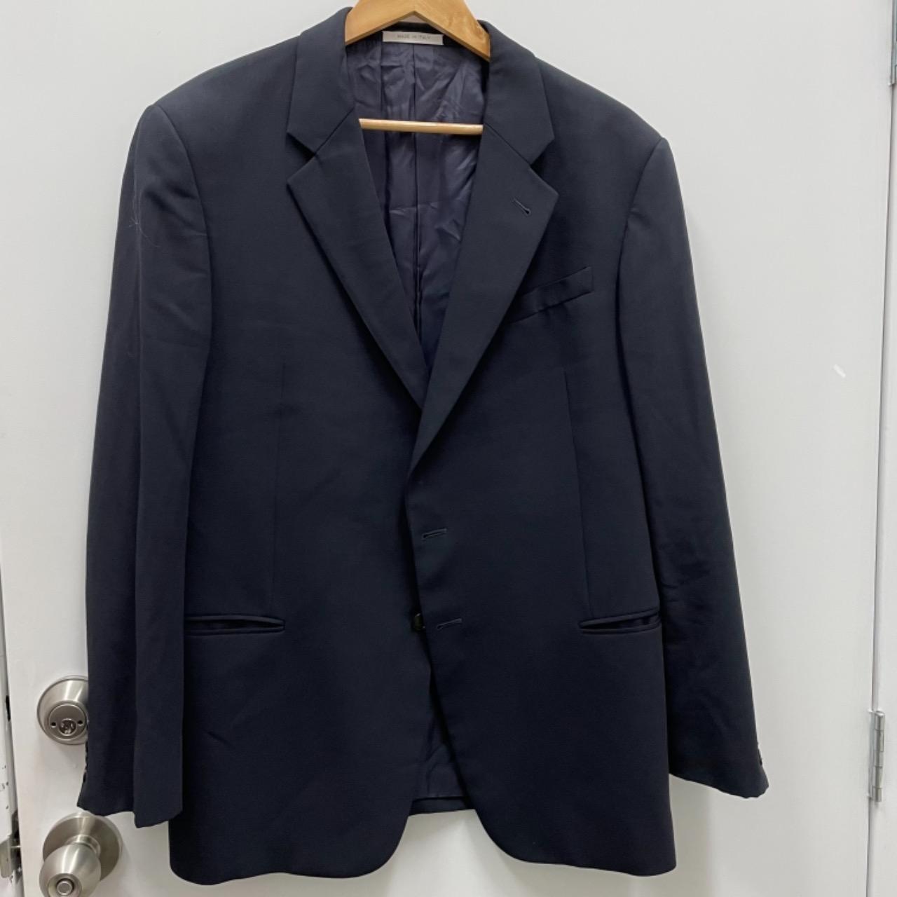 Armani Mens Suit Size 56 R Navy Blue
