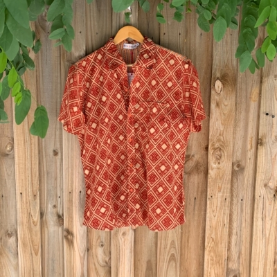 Men's Zigzag Patterned Shirt By Boom Shankar - Size XL