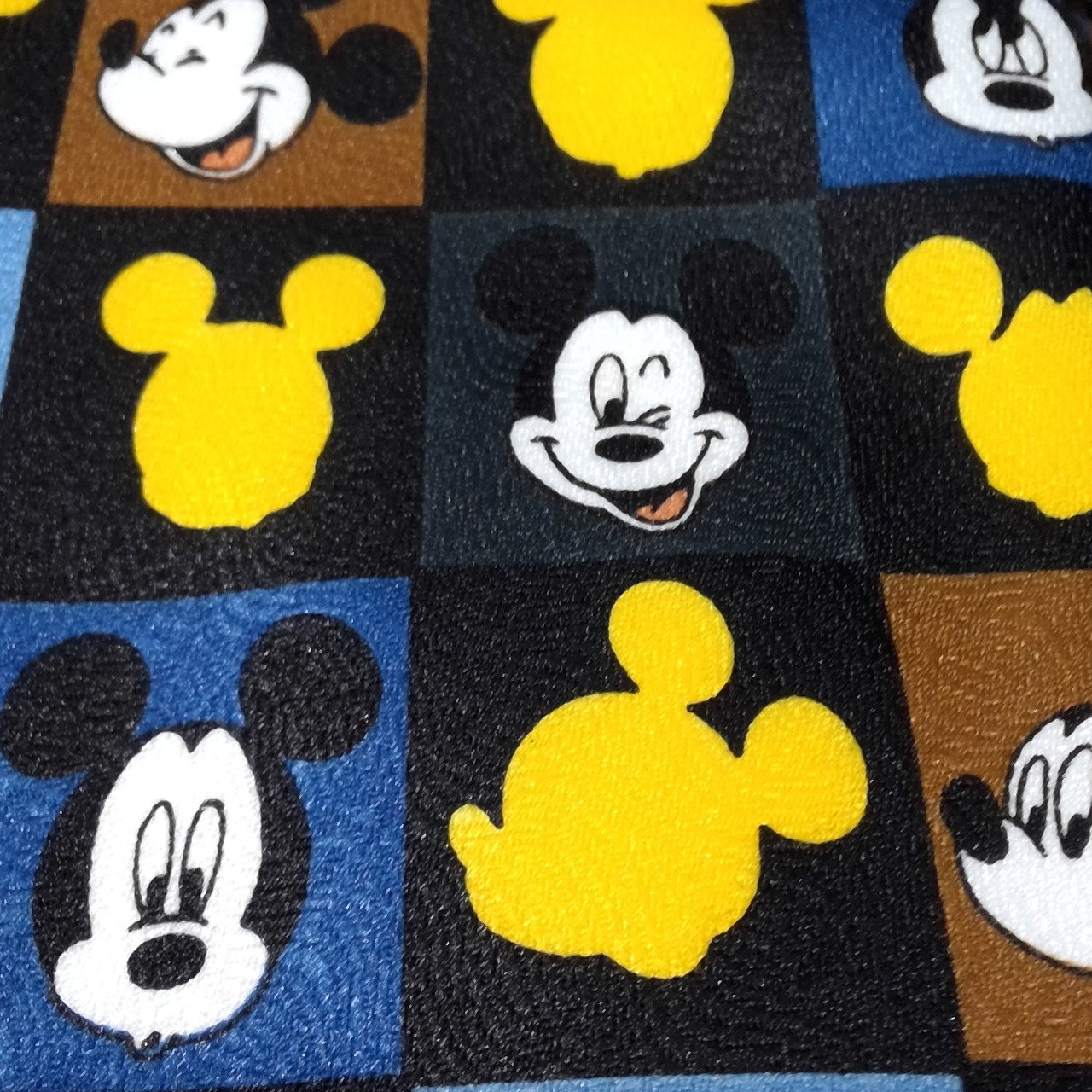 Mens MICKEY MOUSE TIE 'Mickey & Co' Black /Yellow/Brown/Navy Blue