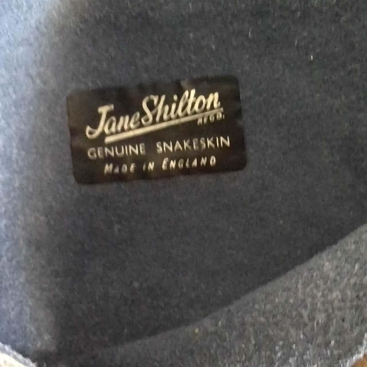Womens VINTAGE JANE SHILTON 'SNAKE SKIN' CLUTCH PURSE Light Brown