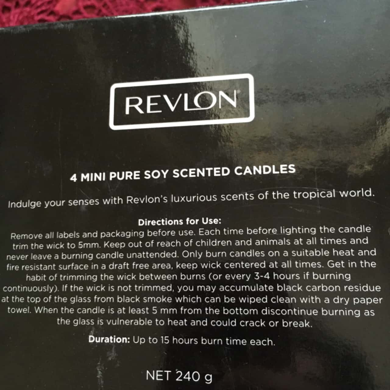 Revlon 4 Mini Pure Soy Scented Candles, Brand New **Happy Mother's Day**