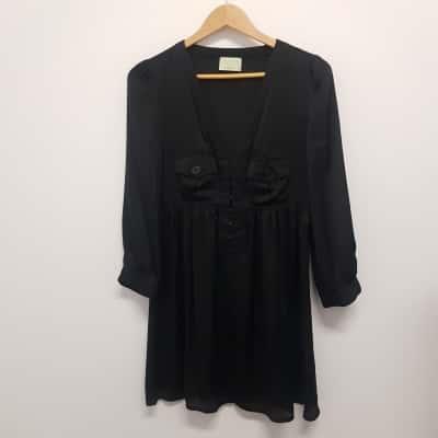 Review Womens  Size 10 Midi Dress Black