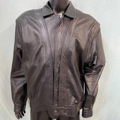 Siricco Mens  Size XL Leather Jacket Black
