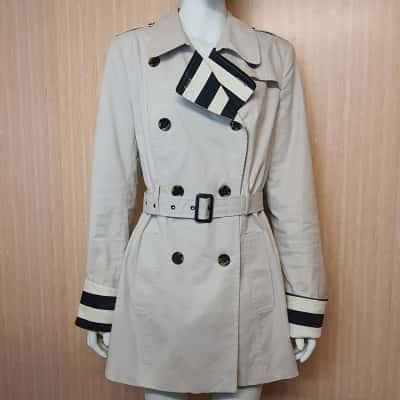 Portmans Beige Trench Coat - Size 14