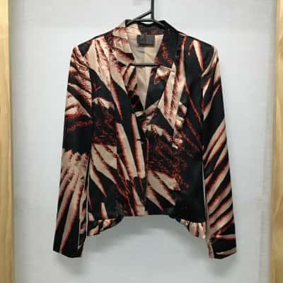 Hunt No More, Red, black and beige blazer, Size 6