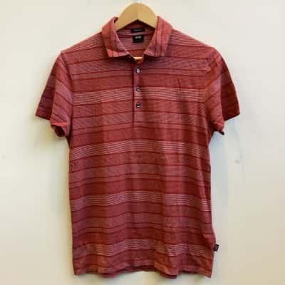 Boss Hugo Boss Mens Size S Burnt Orange Mix Polo T-Shirt