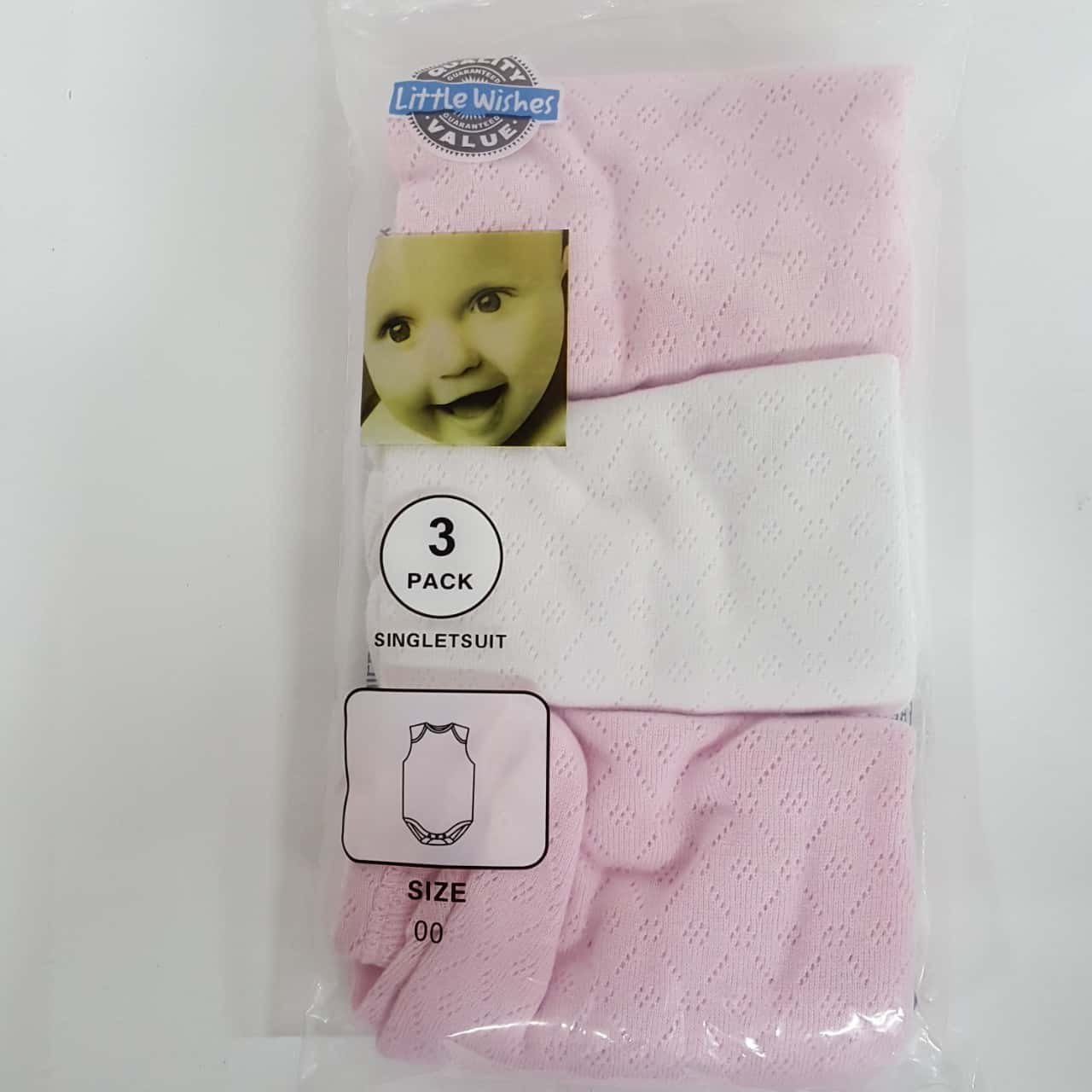 Baby Girls Jumpsuit Colour Pink /White