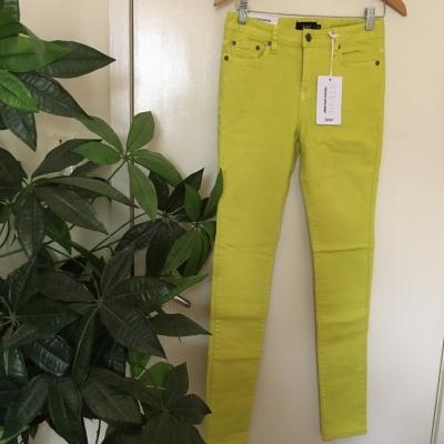 Sportsgirl Womens  Size 9 Skinny /High-Waisted Jeans, Lemon Colour BNWT RRP $79.95