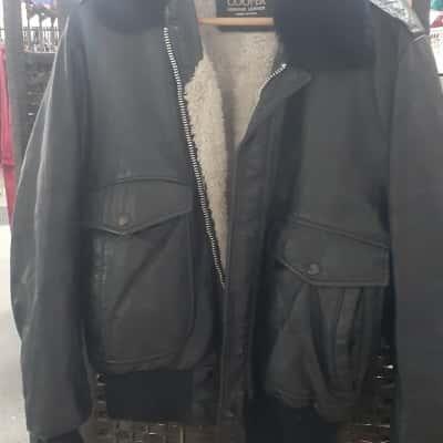 Cooper Womens  Size 40 Biker Jacket Black /Blue