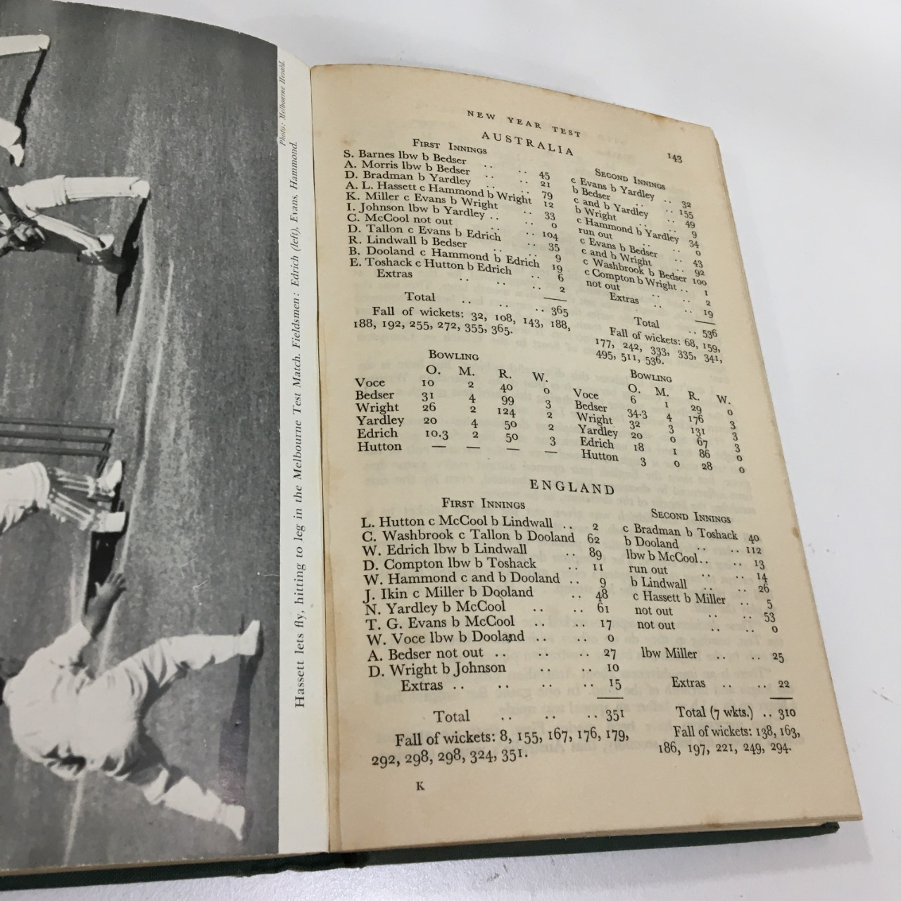 With England in Australia, The Truth About the Tests, Vintage Book
