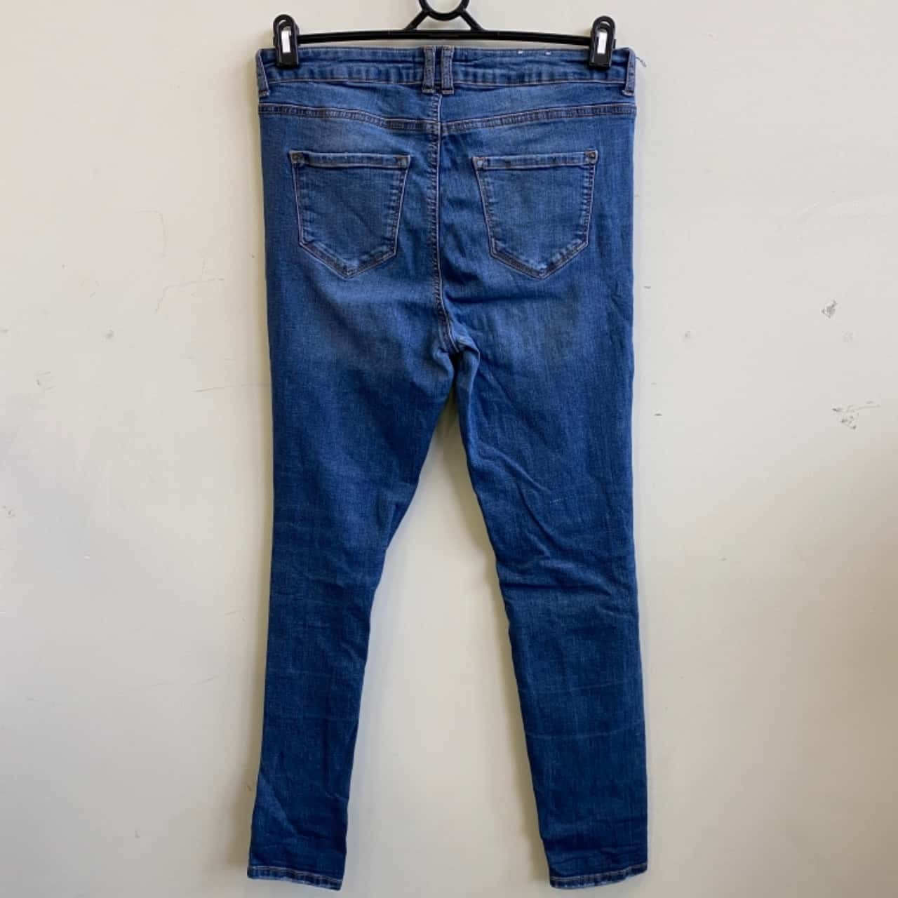 New Look Womens Size 14 Ripped Skinny Blue Jeans