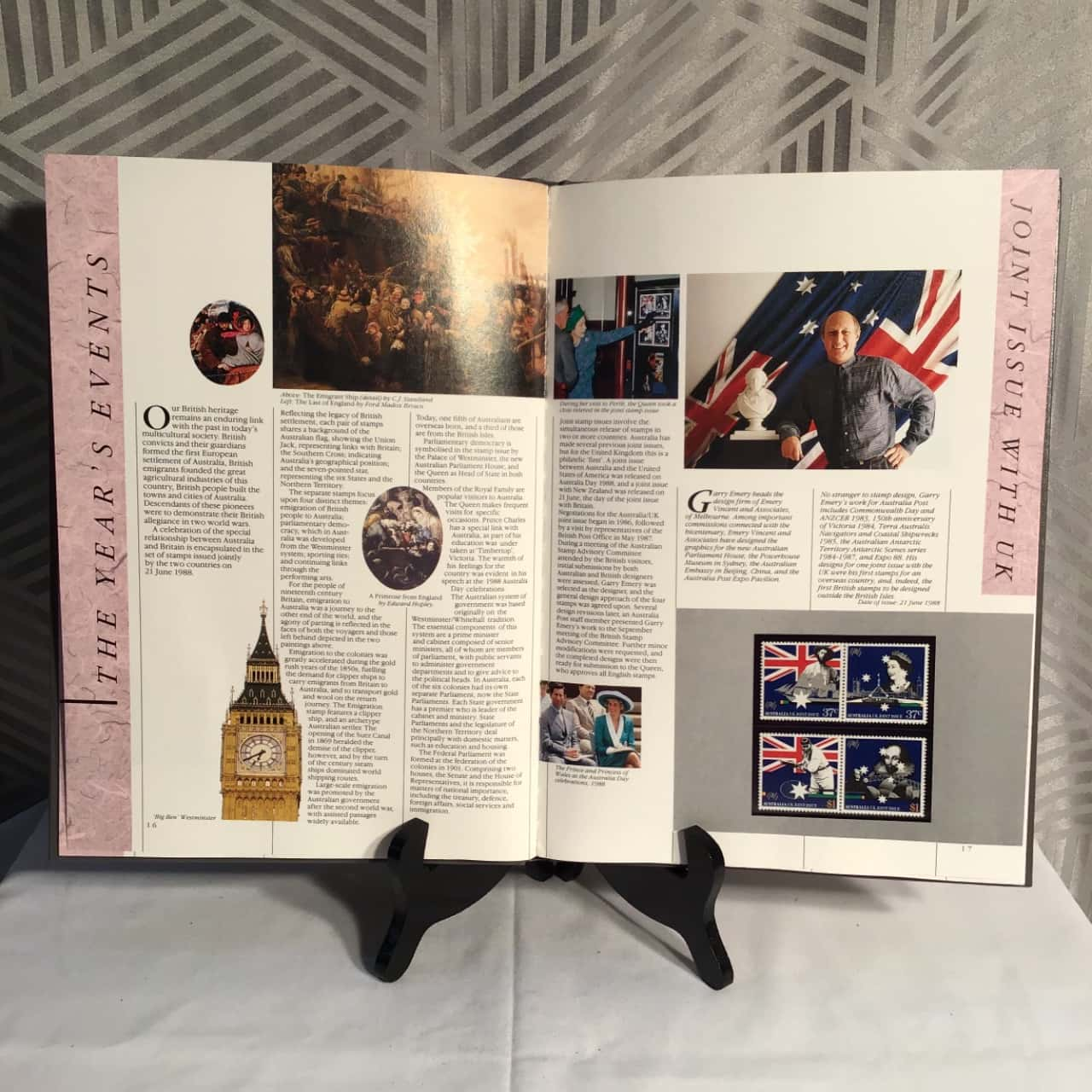 The Collection Of 1988 Australian Stamps Book