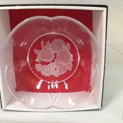 Hoya Crystal Engraving series small bowl unused in box