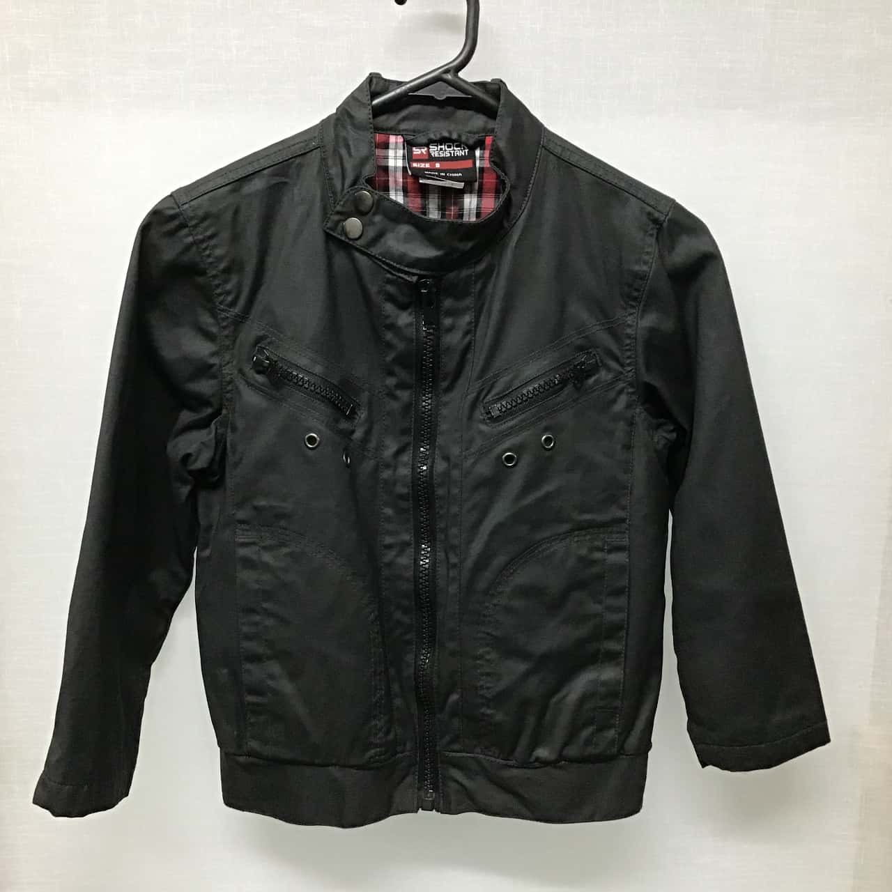 Shock Resistant, Boy's black jacket, Size 8
