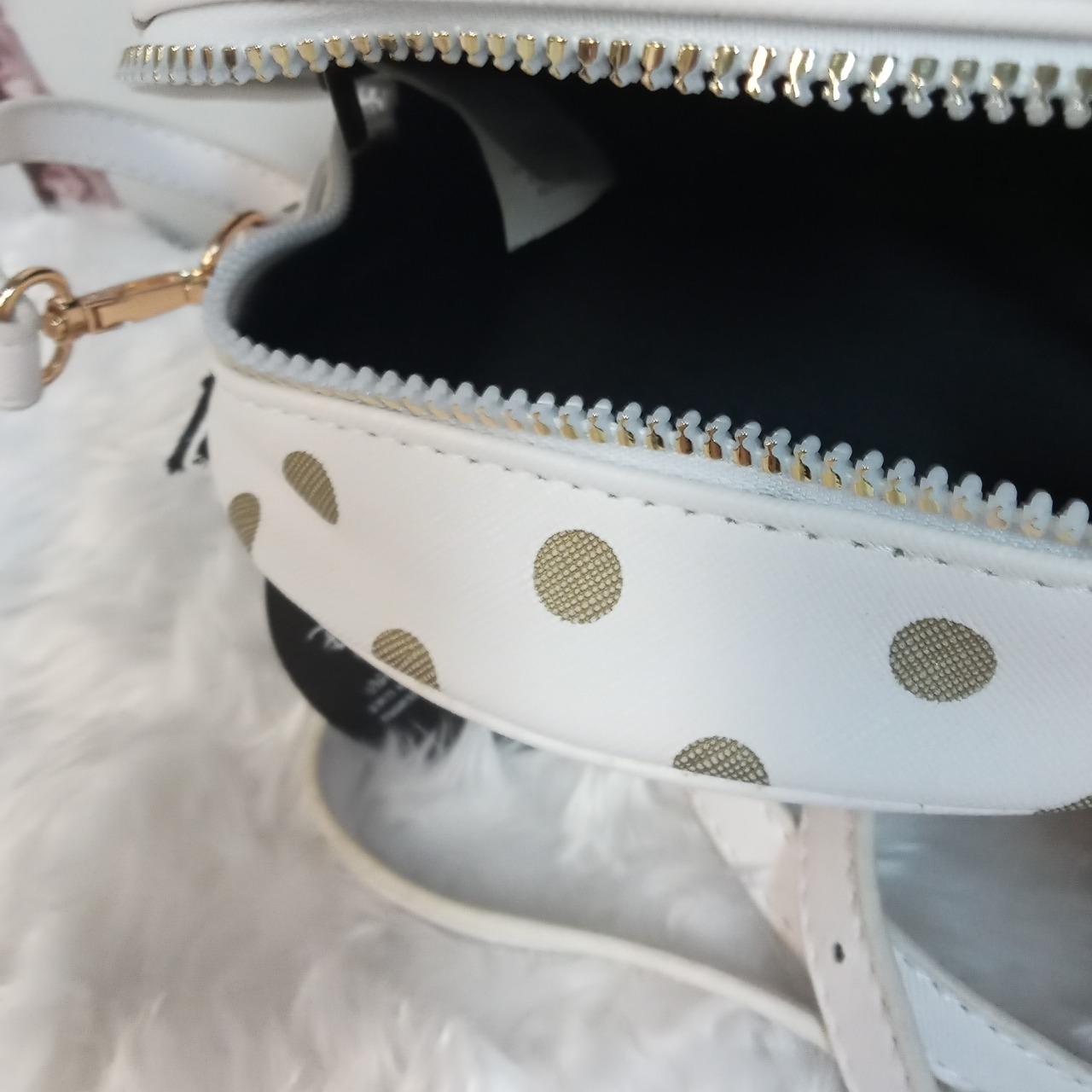 Kids Polka Dot/White Mickey Mouse Bag with Shoulder Strap
