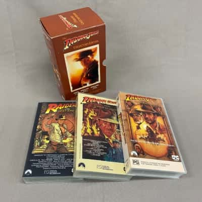 Indiana Jones Collector's Edition VHS Tape Set
