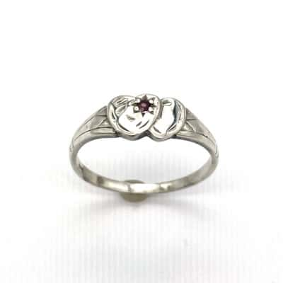 Womens Silver Signet Ring - Size M