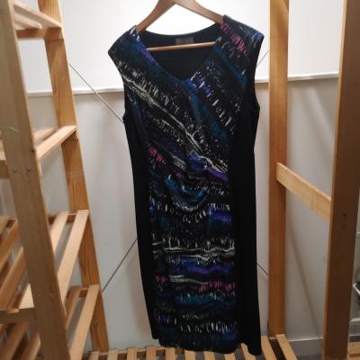 Jacqui-E Women's Black & Multi-coloured Dress Size M