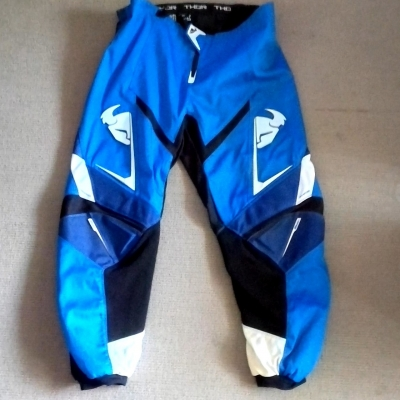 Mens THOR MOTORCROSS /MOTORBIKE PANTS Size XXL Black /Blue/White