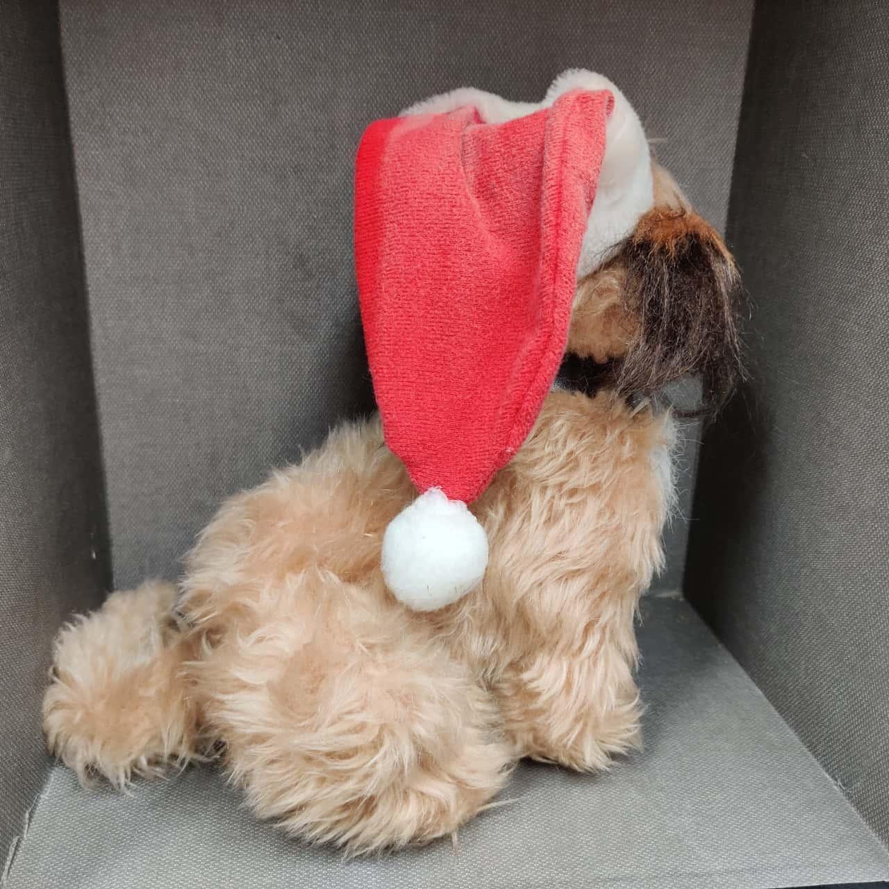 Benji The Dog with Christmas Hat