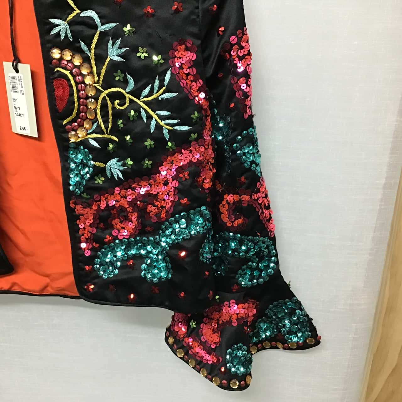 NuStudio River Island, Girl's sequin jacket (needs minor repair), Size 9