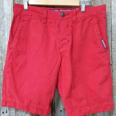 Men's Superdry Tailored Shorts, New, Red, 100% Cotton,Size M