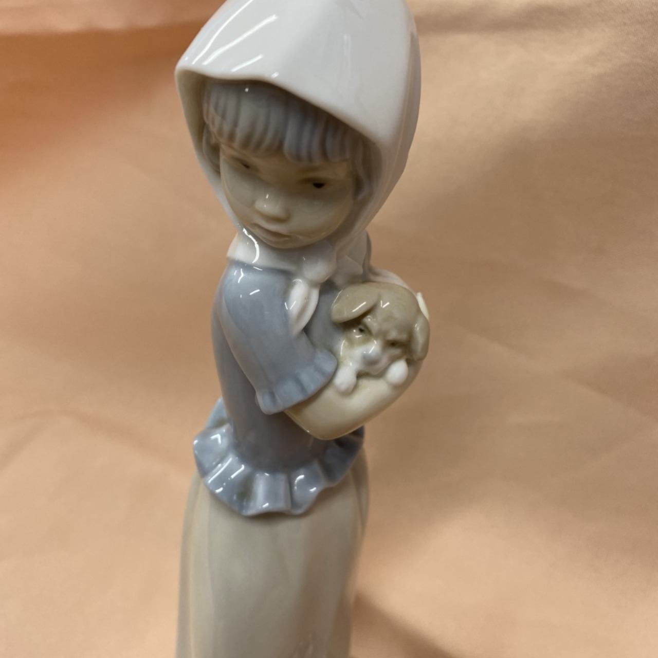 NAO BY LLADRO FIGURINE - Girl With Dog & Basket