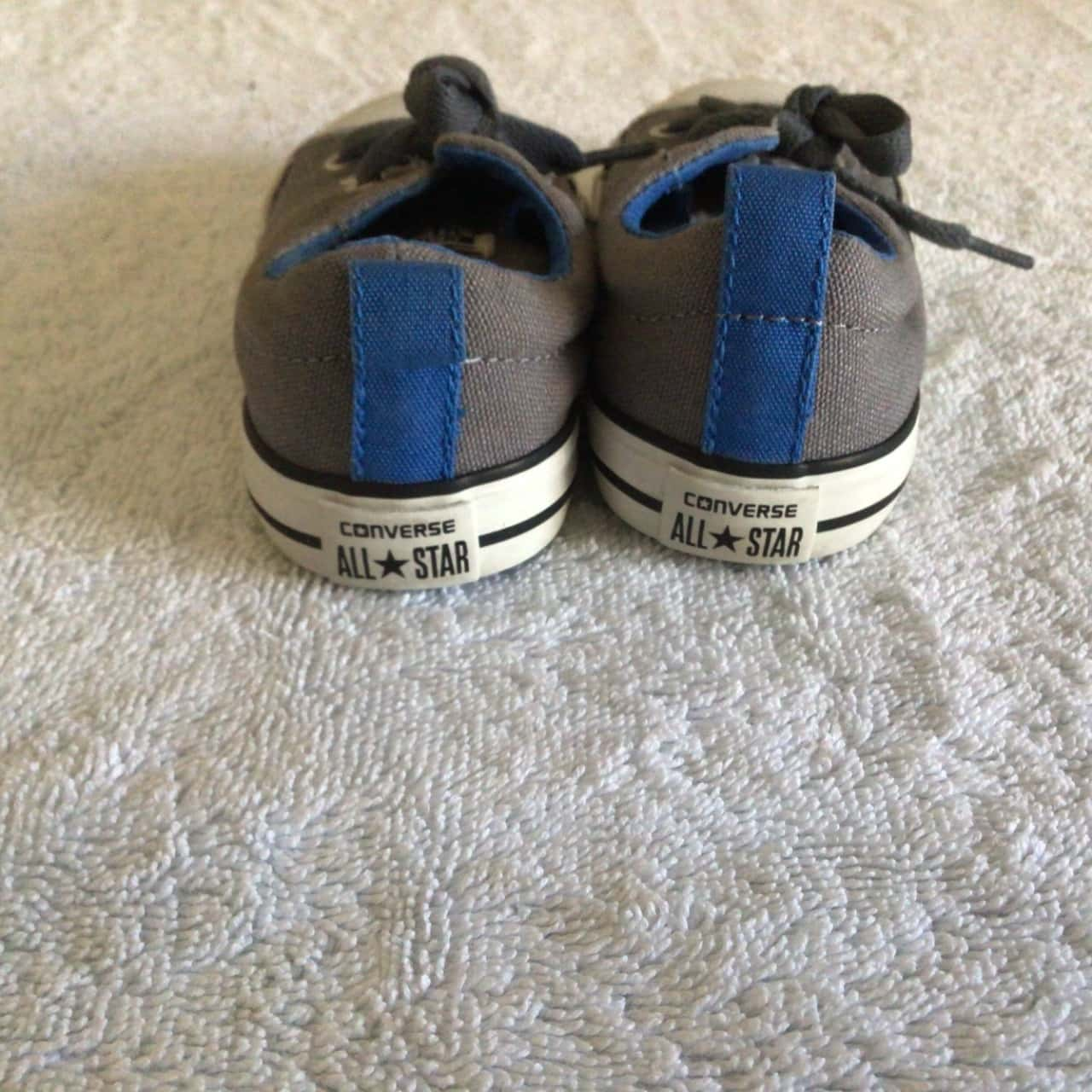 Kids  CONVERSE ALL STAR SNEAKERS Size 7 ( uk / us)Grey/White